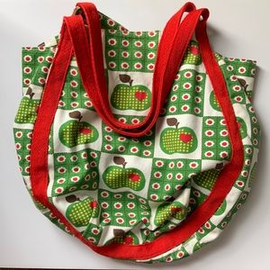Retro bag with Apple print pattern by A Fine Mess